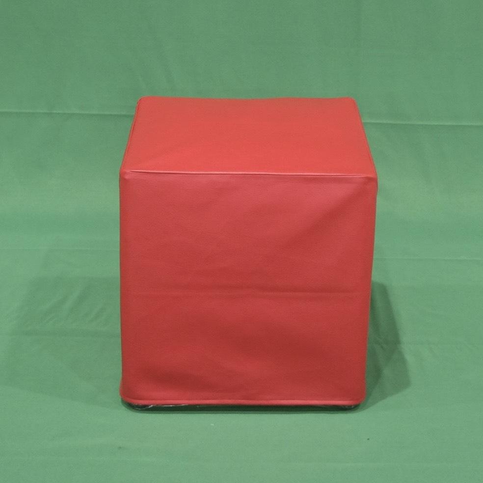 เก้าอี้สตูลลูกเต๋าแดง