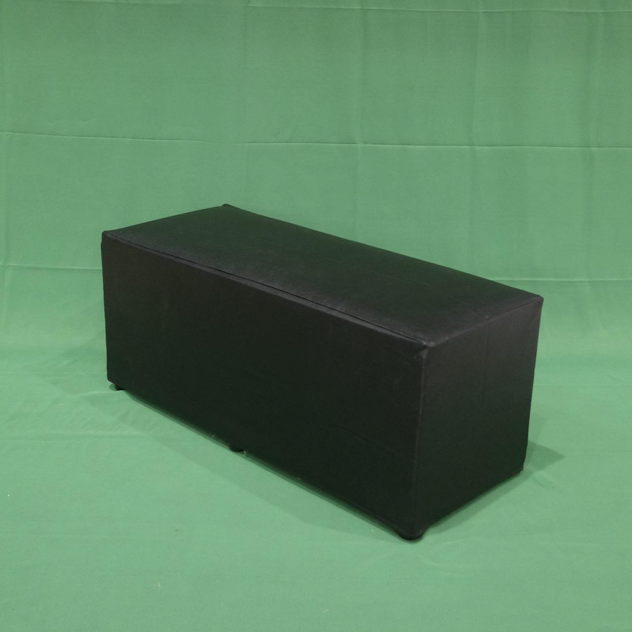 เก้าอี้สตูลลูกเต๋ายาวสีดำ