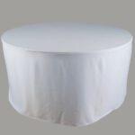 โต๊ะจีนพร้อมผ้าคลุมสีขาว