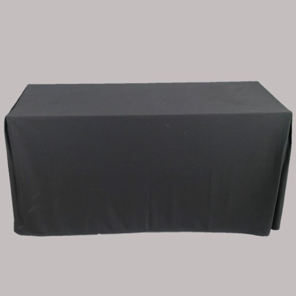 โต๊ะเหลี่ยม 1.50พร้อมผ้าคลุมสีดำ